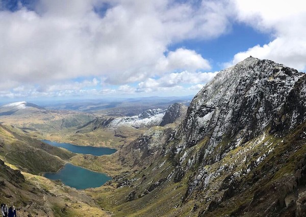 view from summit of mount snowdon