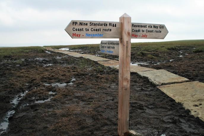 navigating the uk coast to coast trail walk, England