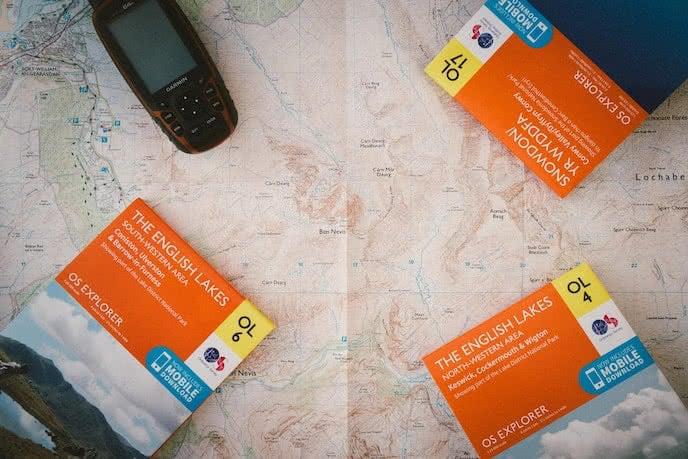 os maps for navigating england