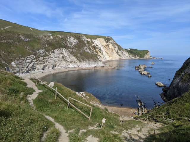 jurrasic coast beach cove hike walking route