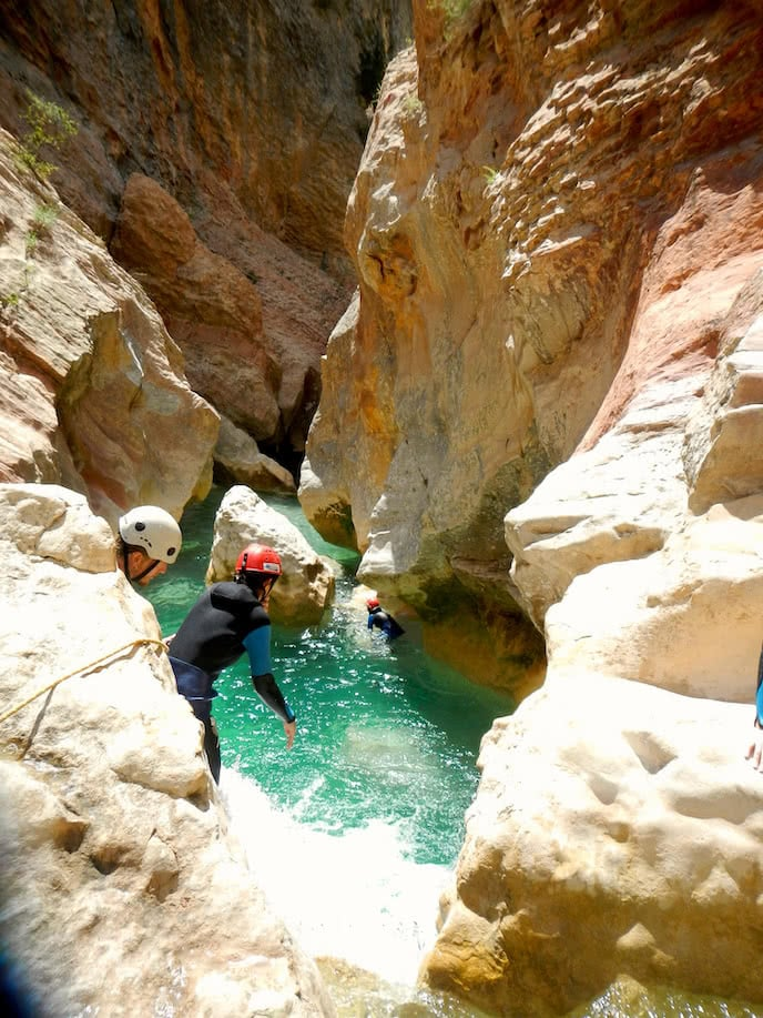 canyoning holiday france jumping in