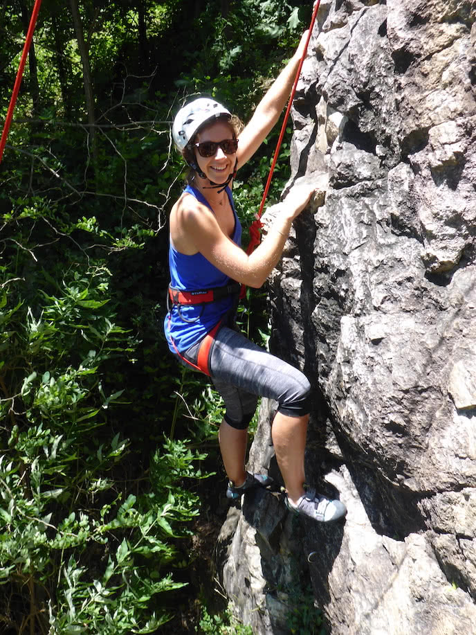 introduction to rock climbing holiday french pyrenees
