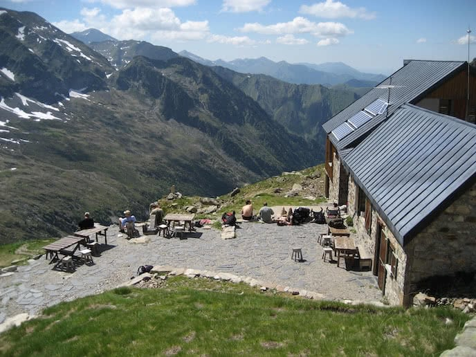 mountain hut to hut hiking holiday pyrenees france