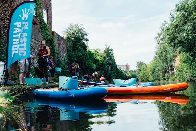 paddleboarding plastic patrol london