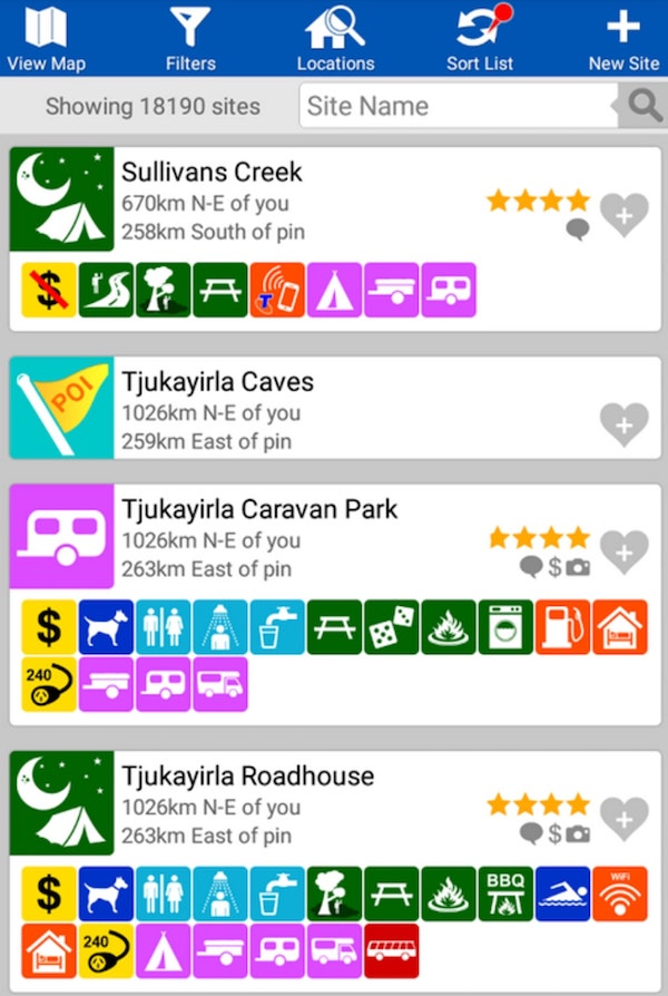 Wikicamps best camping apps for campsite finding