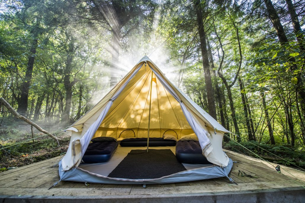 bell tent wild camping cornwall