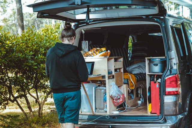 living in a van - climbing life
