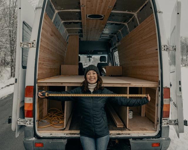 Van converison - female living in a van