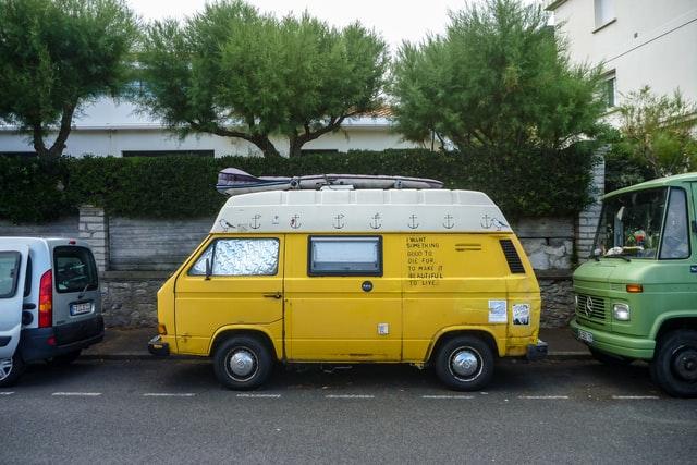 surfing - living in a van