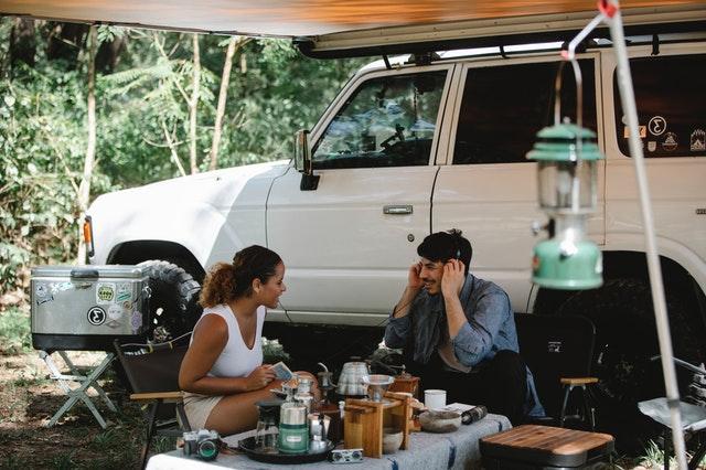 couple living in a van