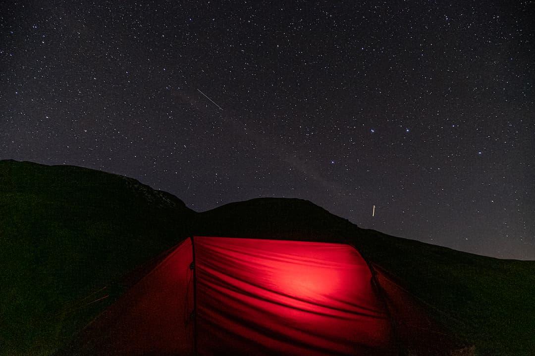 Wild camping under the stars Snowdonia