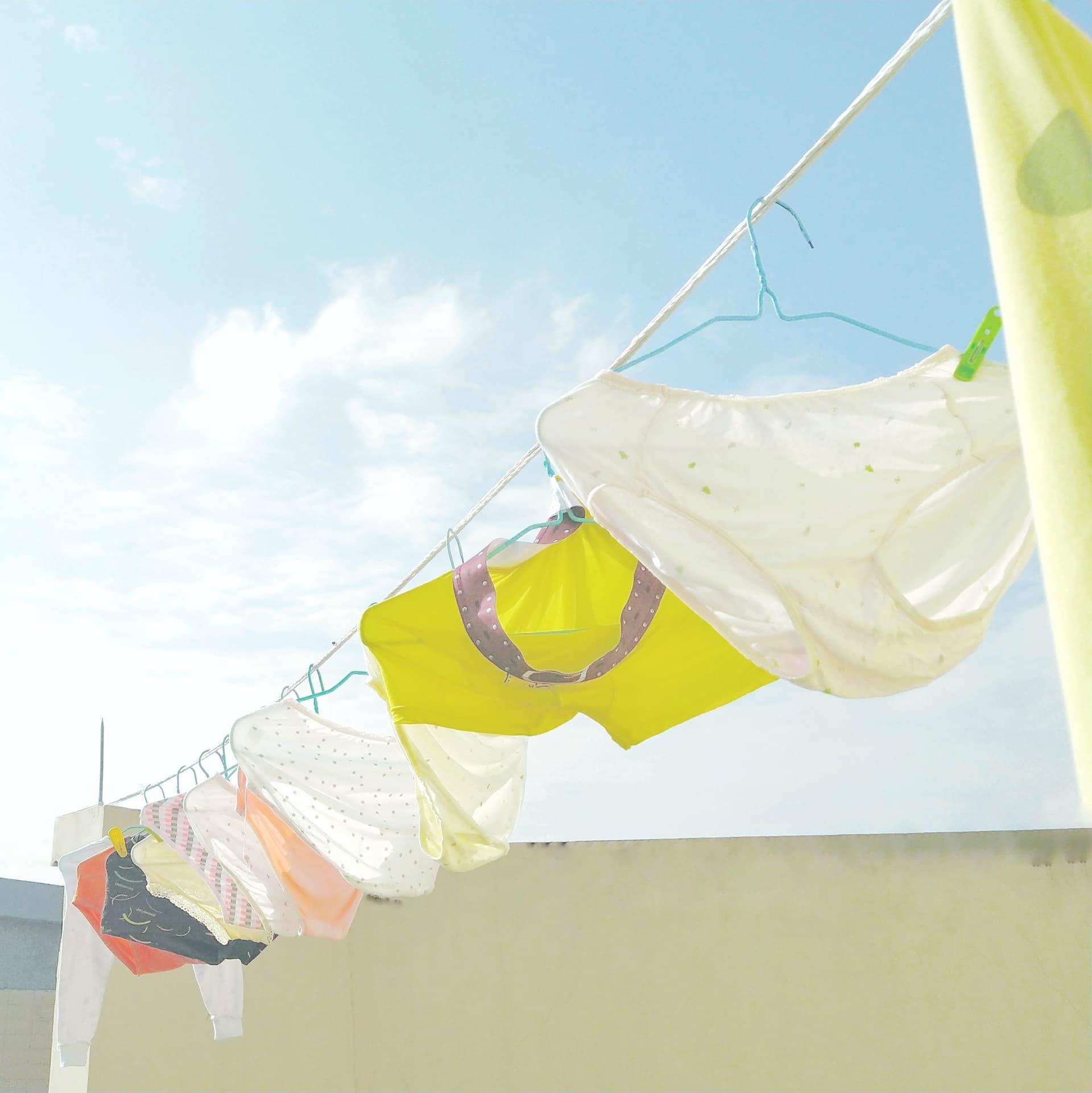 Underwear drying in sun