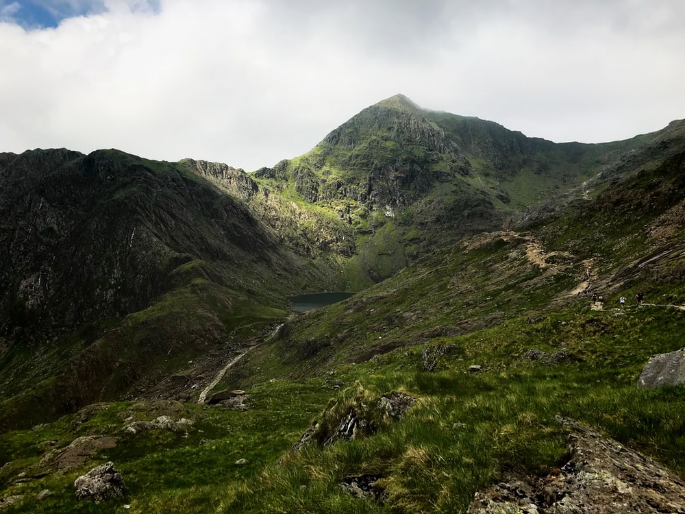 The Pyg Track up Snowdon in Wales, second highest mountain in the UK