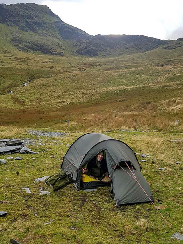Wild camping in snowdonia when climbing snowdon via crib goch