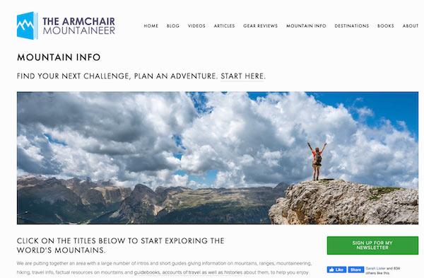 the armchair mountaineer blog