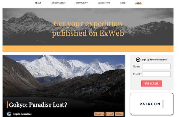 Explorers web blog