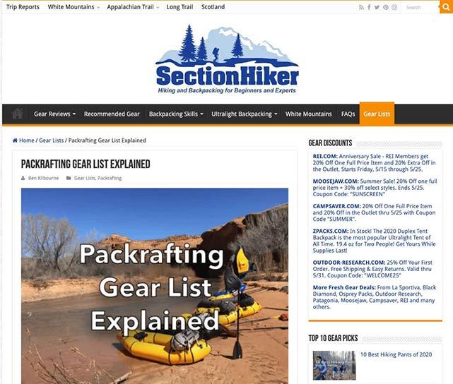 Section Hiker blog