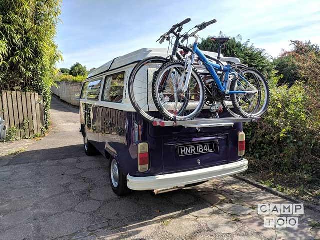 Camptoo campervan with bikes on rack