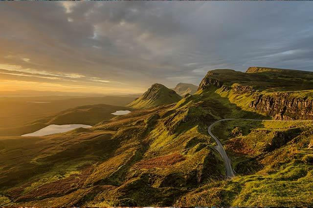 Scottish wilderness Skye Scotland