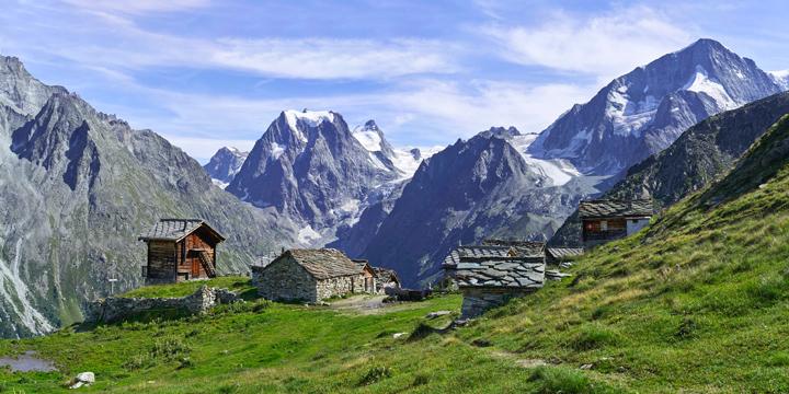 Tour du Mont Blanc hike Mont Blanc massif mountain huts
