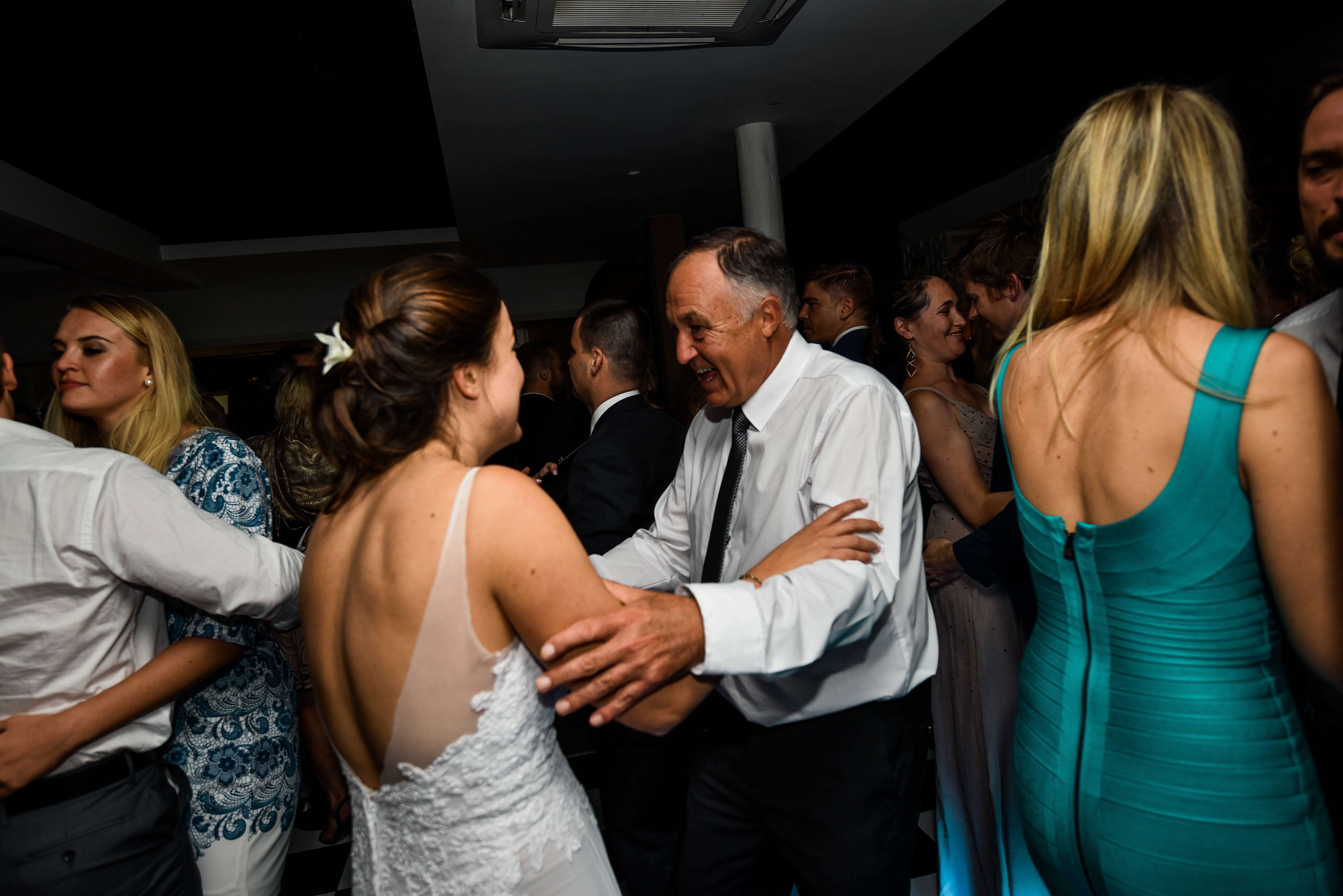 A father and her daughter dancing the night away to the best DJ in the world.