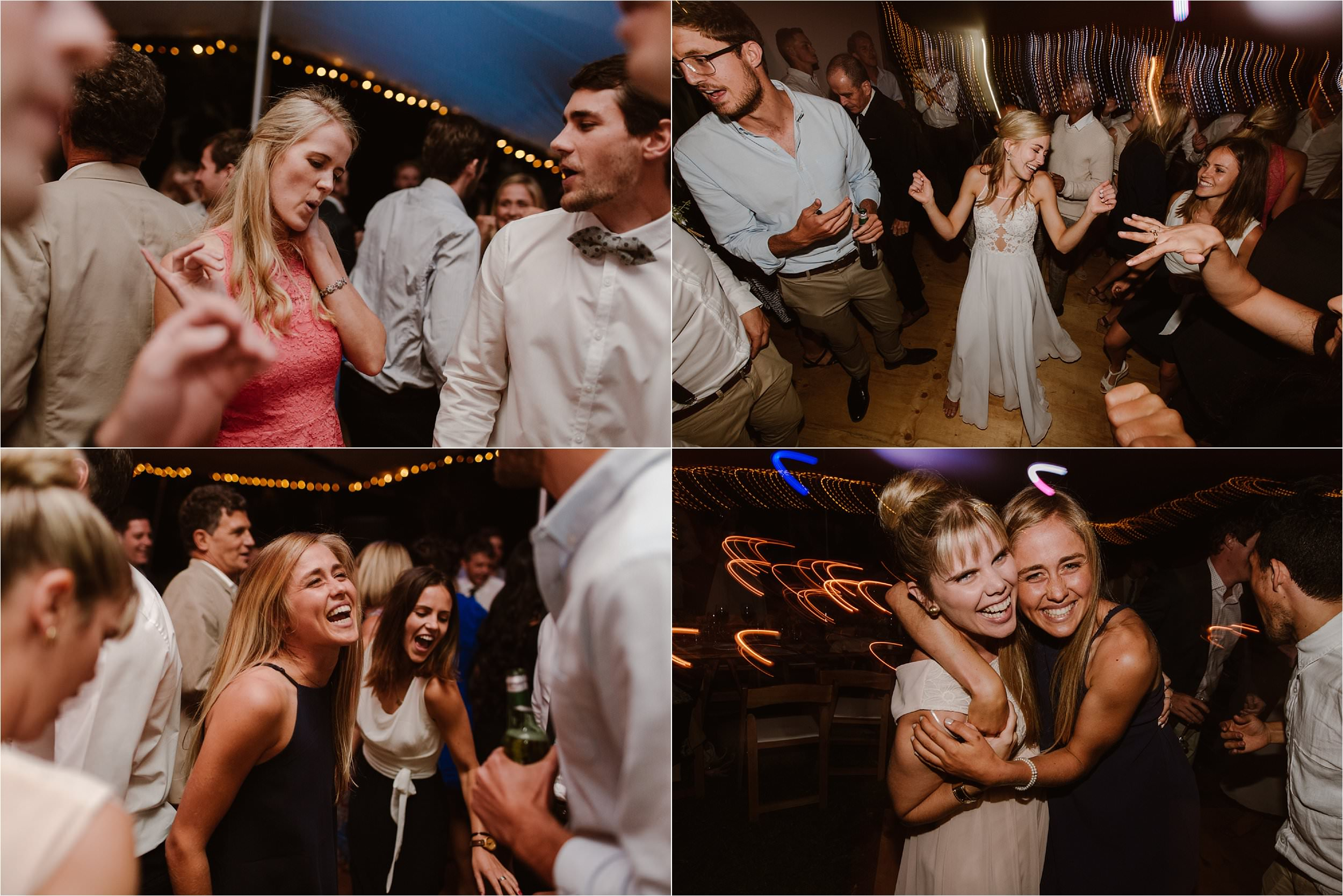 People smiling and dancing at the best wedding.