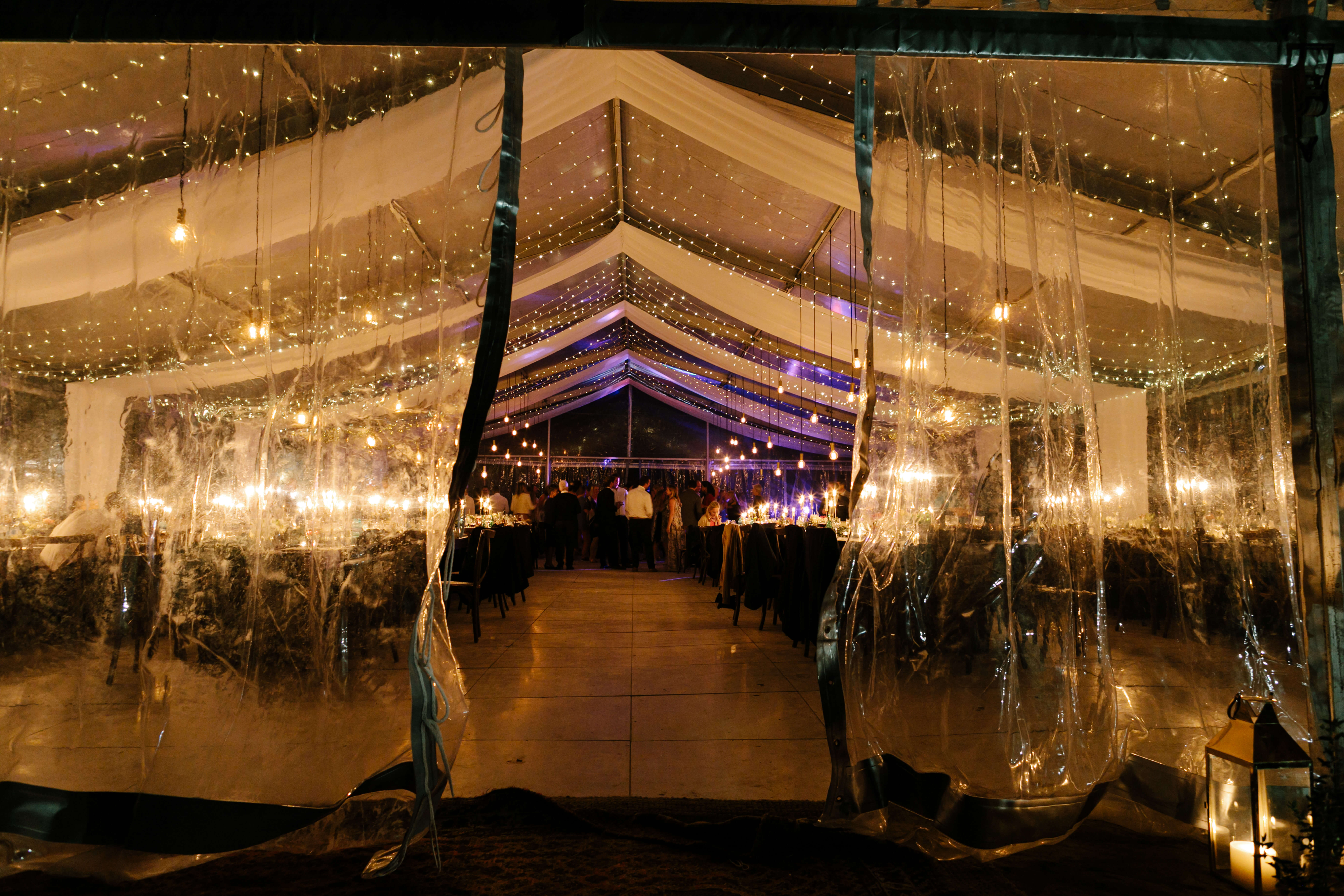 A breathtaking outdoor wedding tent in the middle of a Stellenbosch farm.