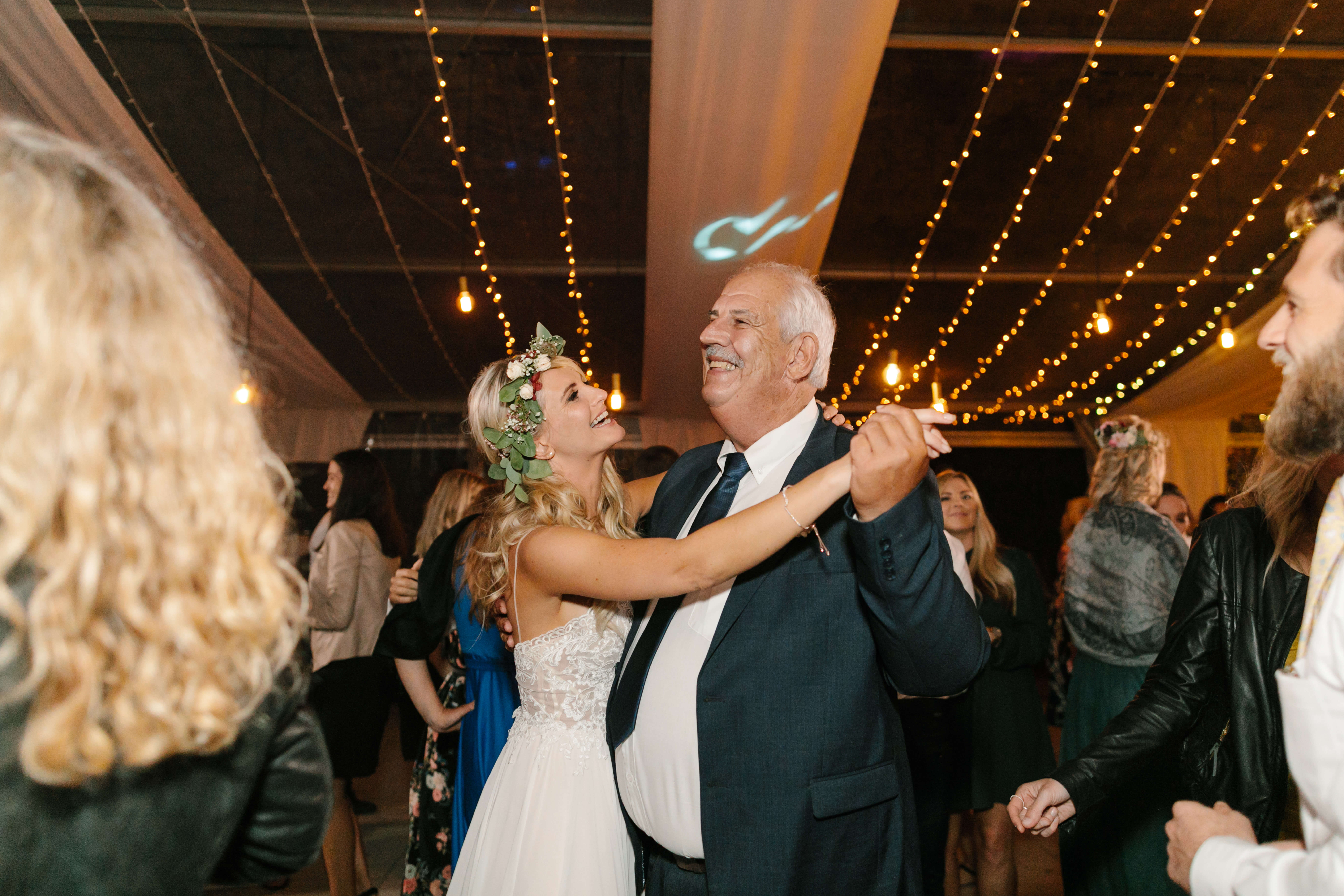 A bride and her father dancing to an amazing wedding DJ.