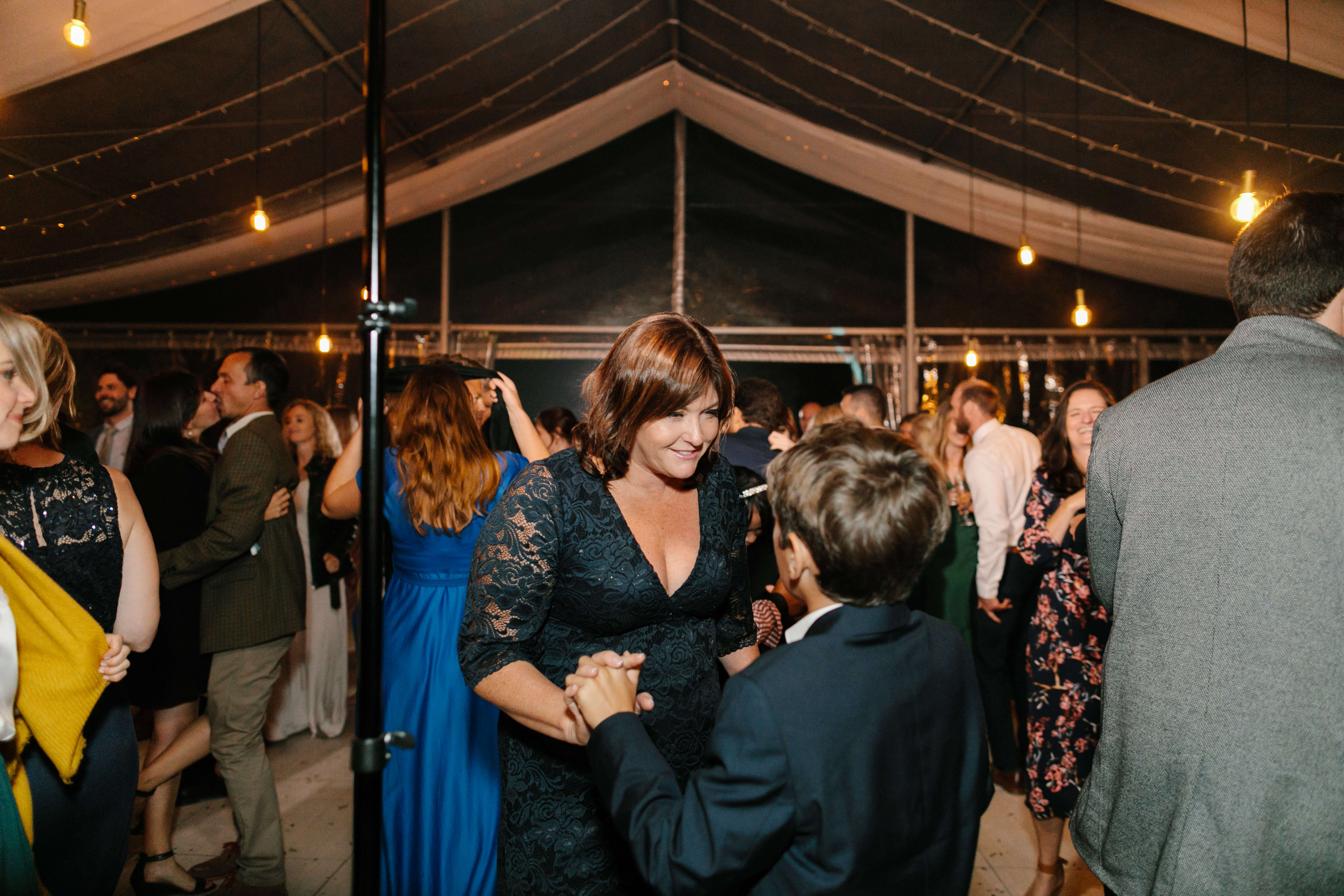 A mother and her son dancing to the best wedding DJ in Cape Town.