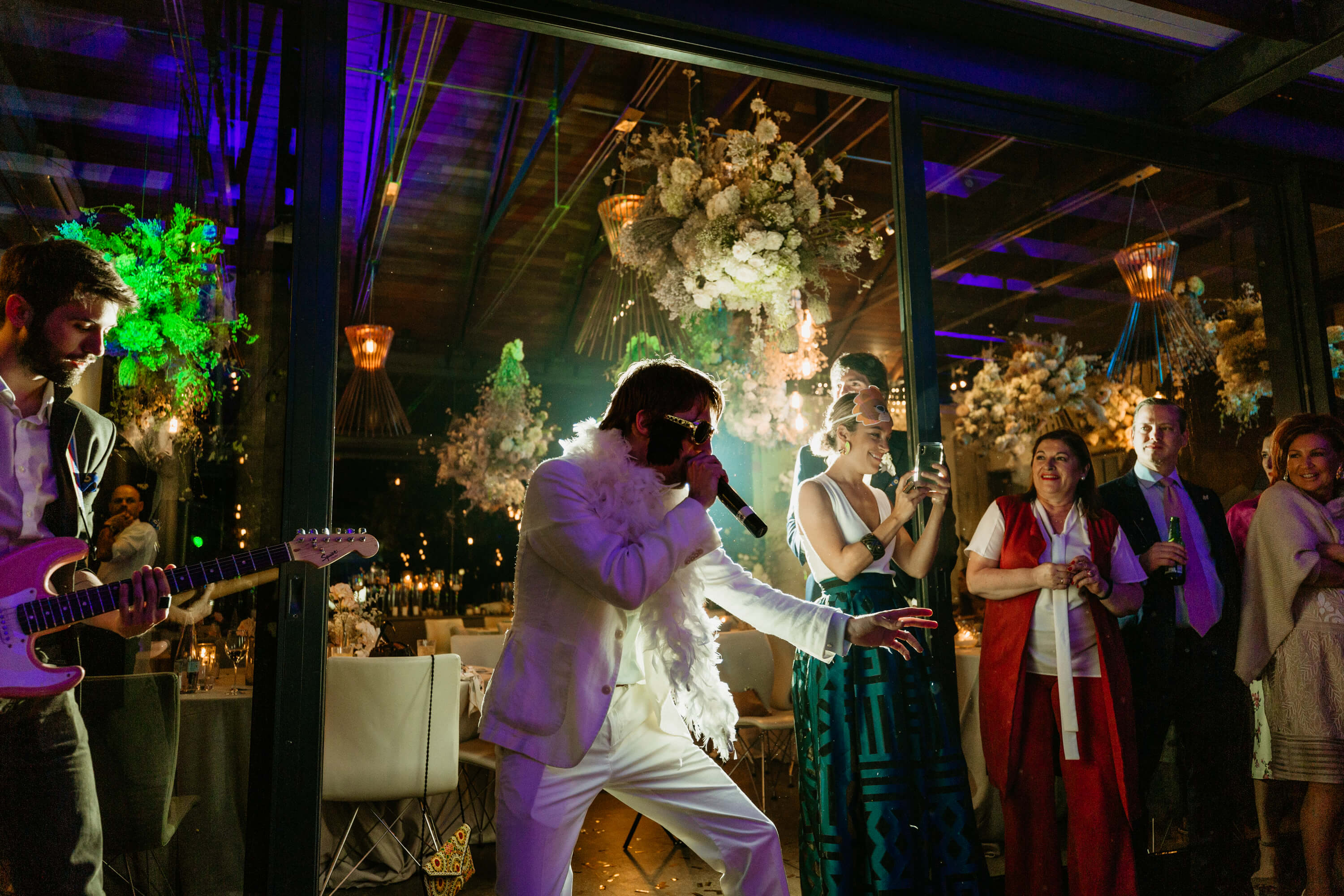 live performance by Elvis impersonator.
