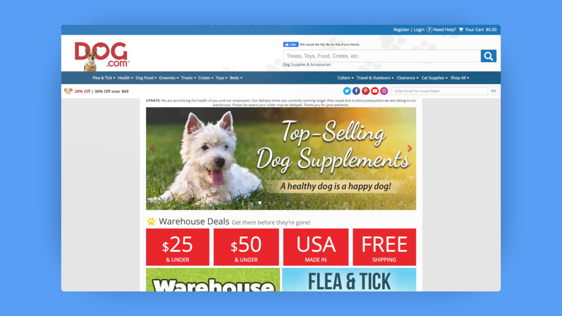 TabCom dog.com website image