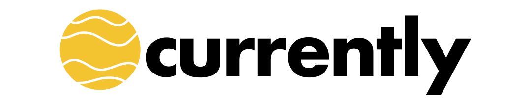 currently logo, black text