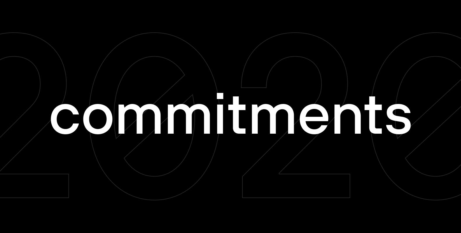2020 commitments