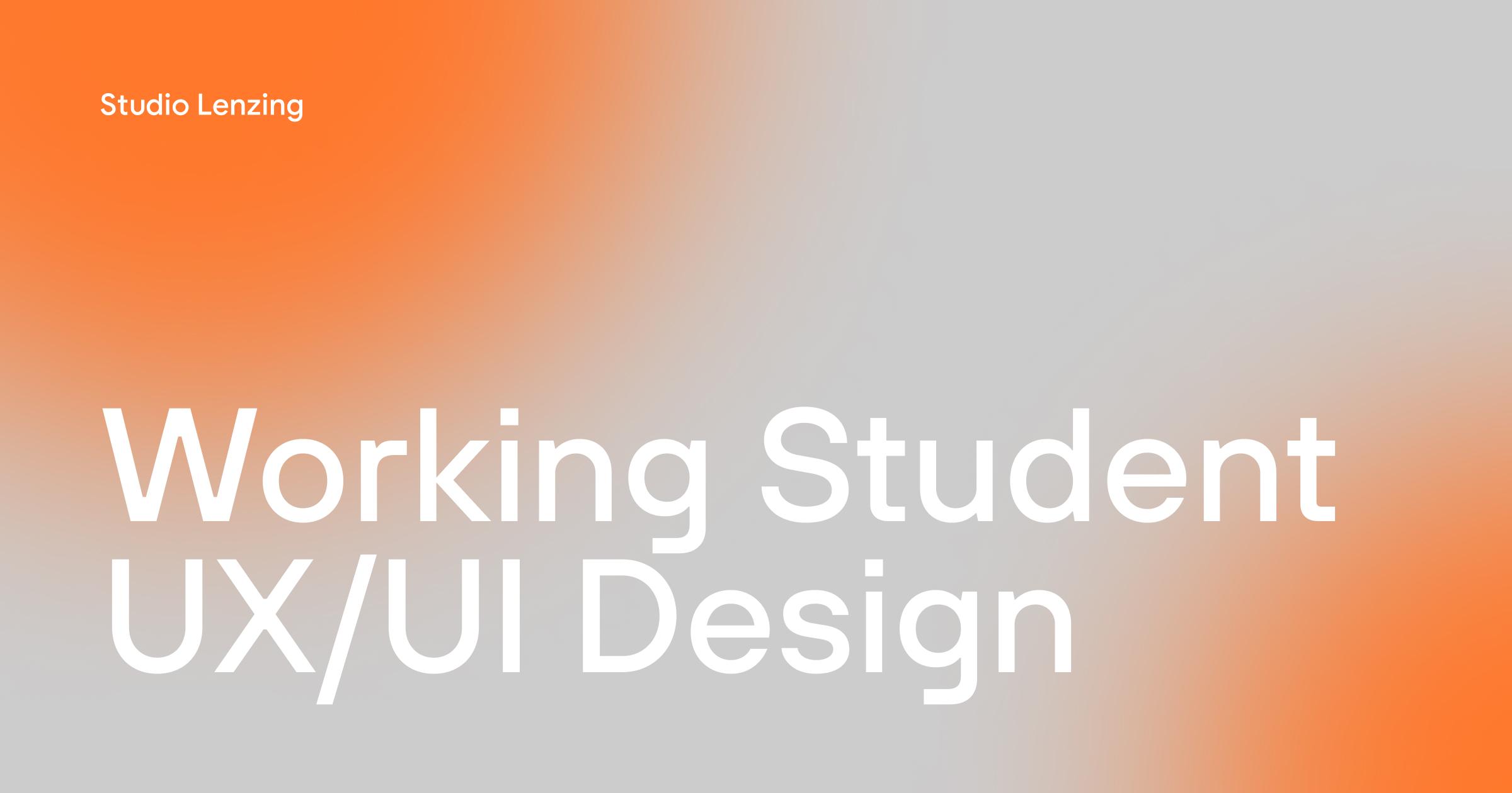 Working Student UX/UI Design