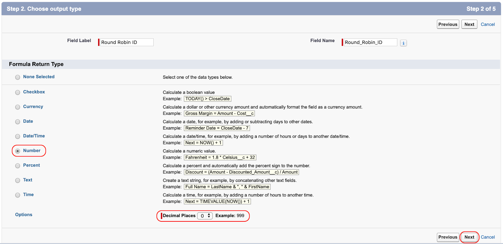 Creating the Round Robin ID field in Salesforce