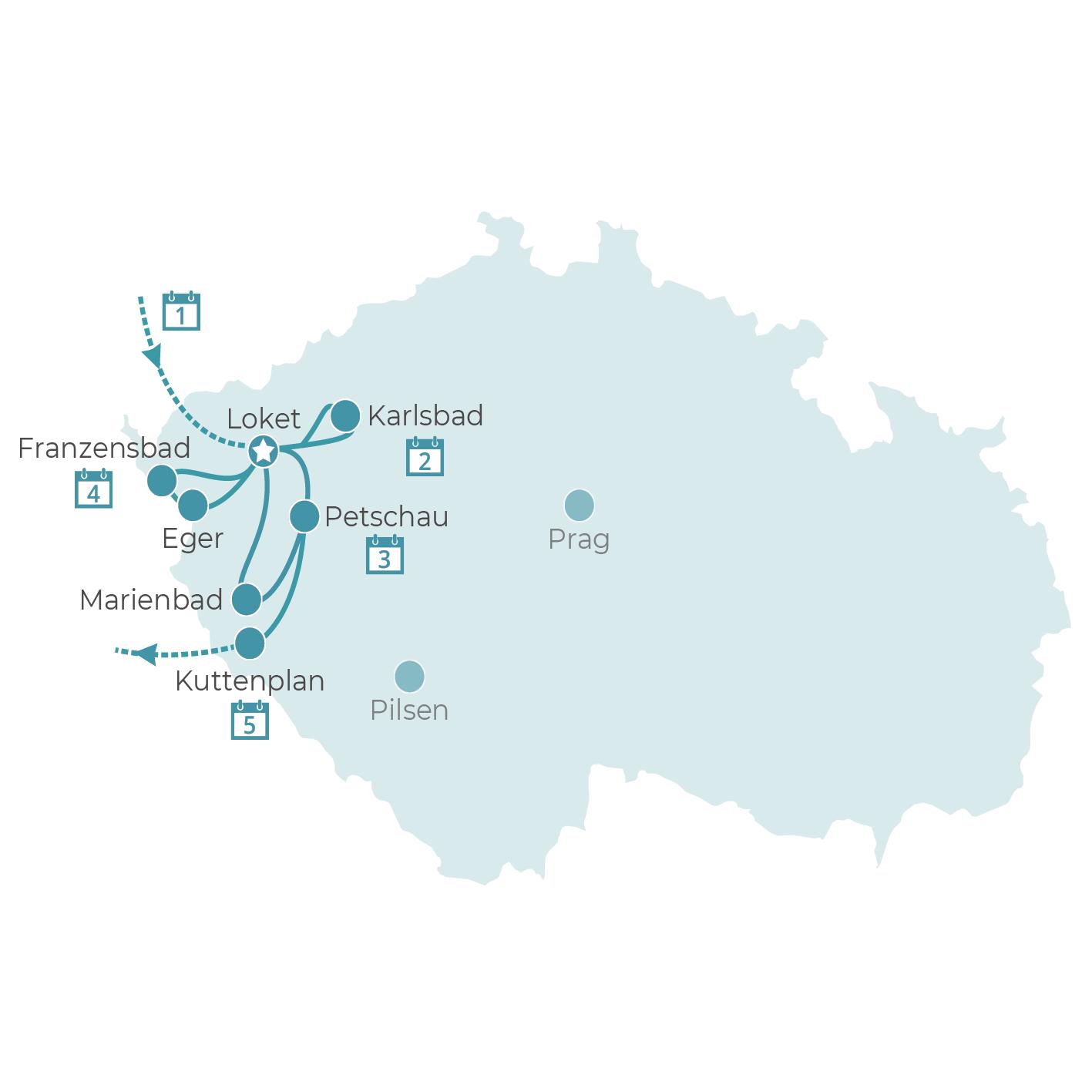 königliche Bäderdreieck in Westböhmen
