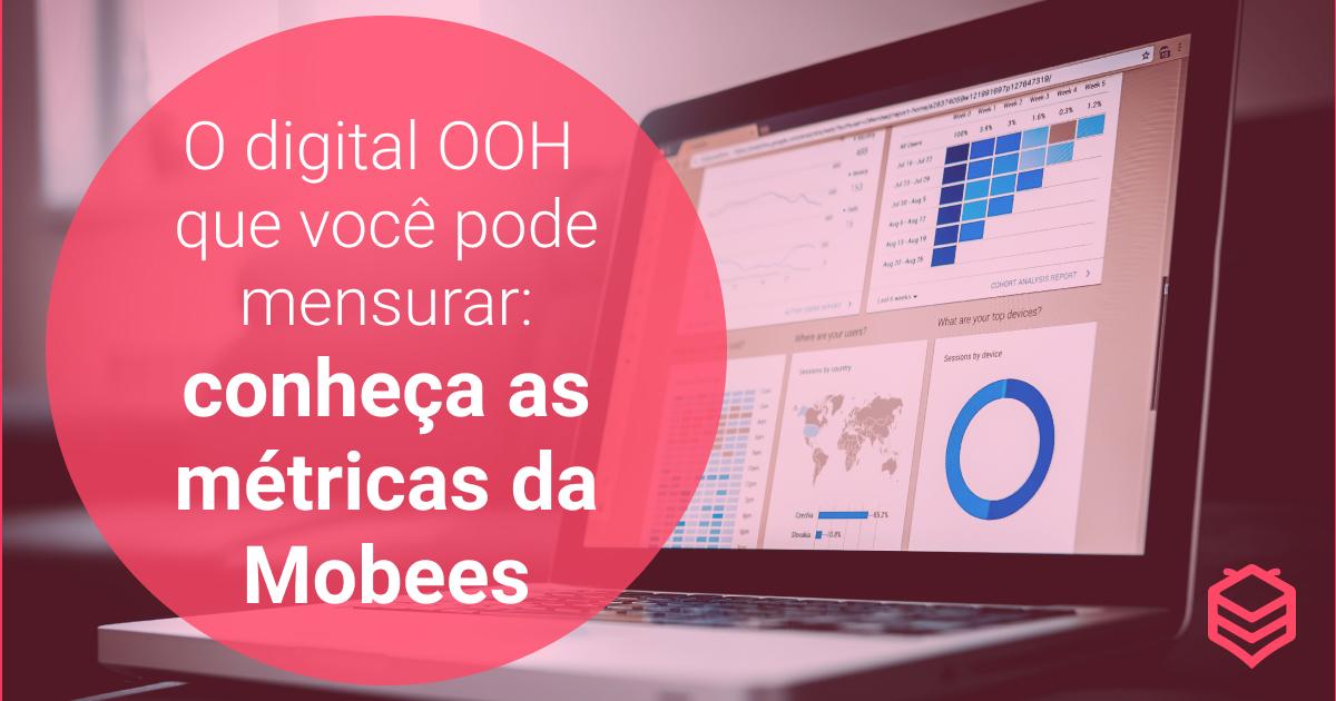 O digital OOH que você pode mensurar: conheça as métricas da Mobees