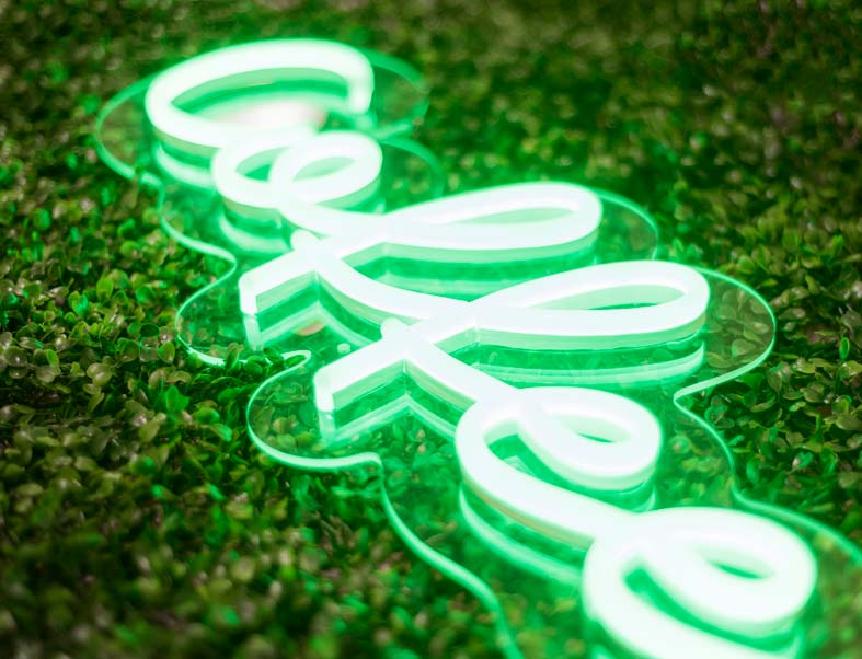 Coffee green neon sign