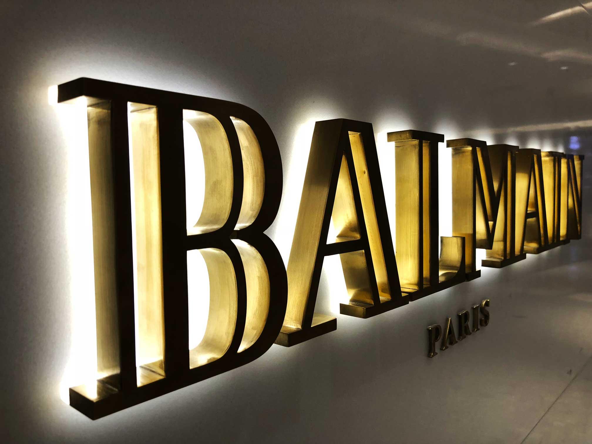 Fashion brand illuminated sign