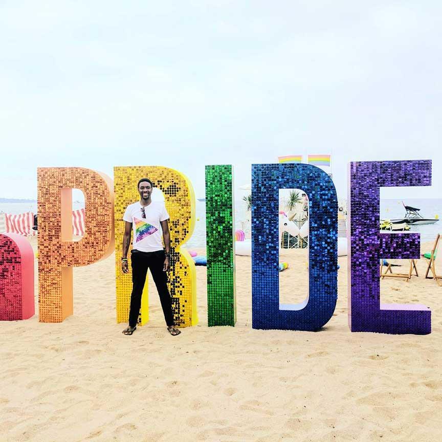 Pride sequin wall