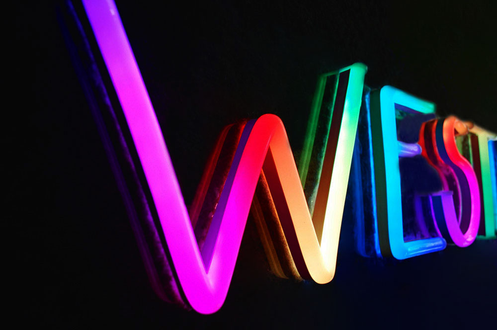 multicoloured animated neon