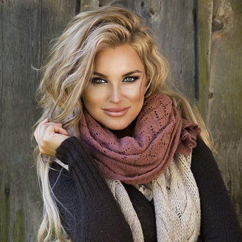 Beautiful Woman Cozy Outfit