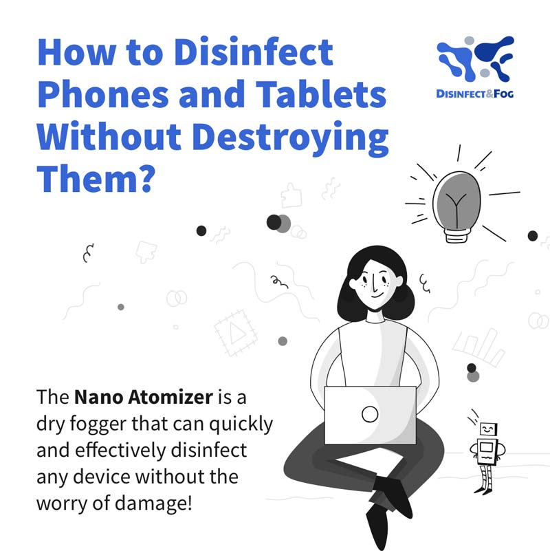 disinfect phones and tablets