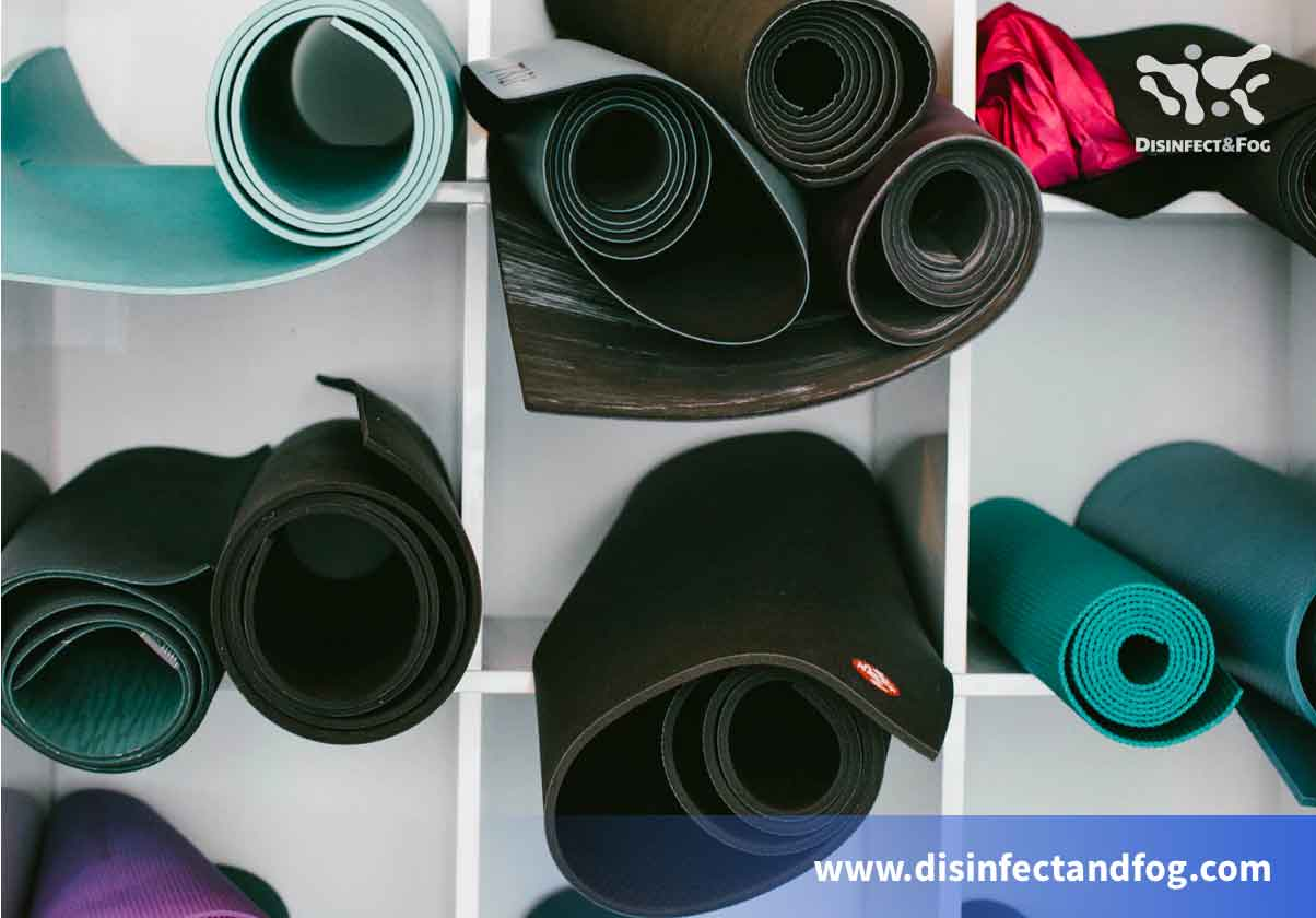 how to disinfect wokout mat