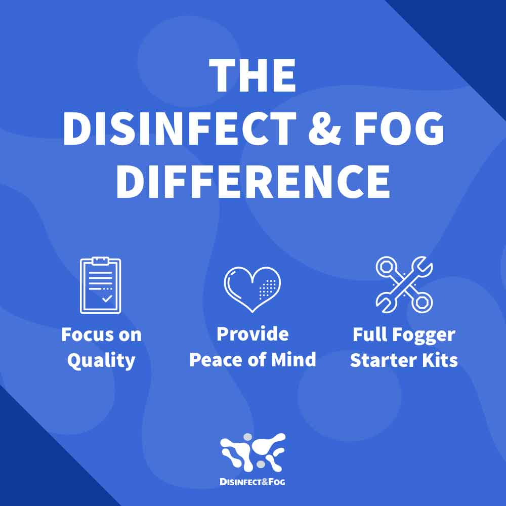 disinfect and fog