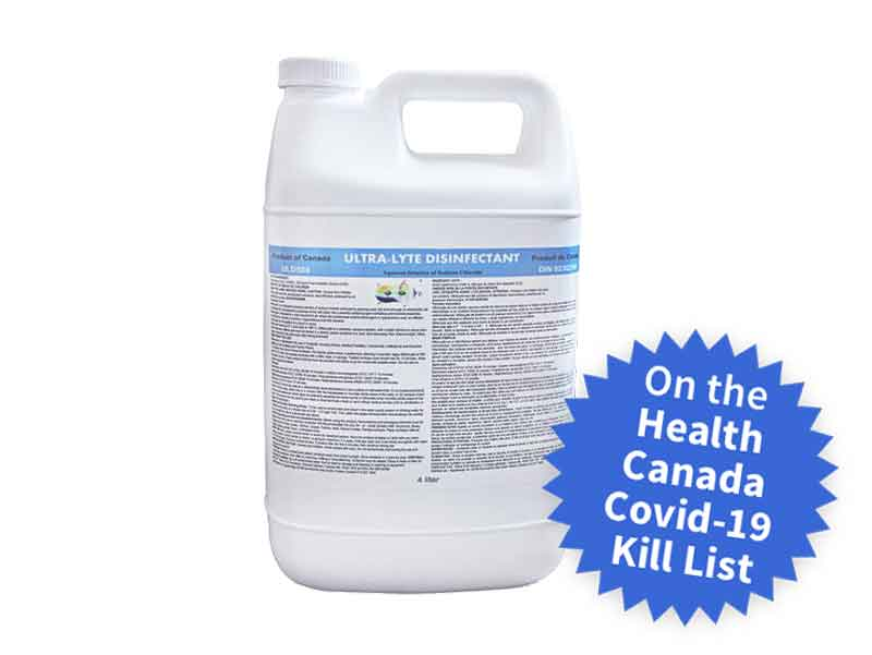 image of 4 gallons of Ultra-Lyte Disinfectant