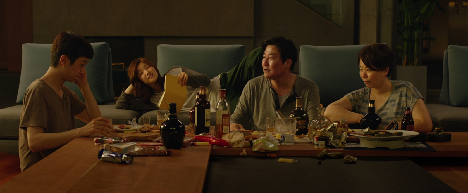 The Kim family in Bong Joon Ho's Parasite