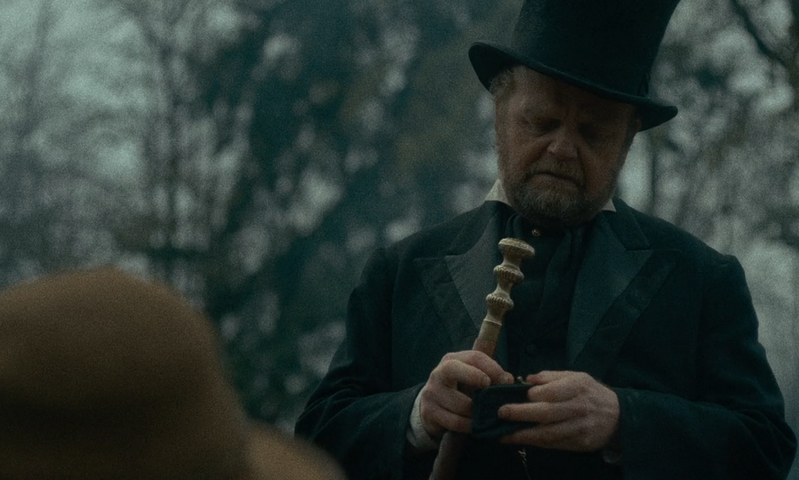 "Toby Jones as Chief Factor in Kelly Reichardt's film ""First Cow"""