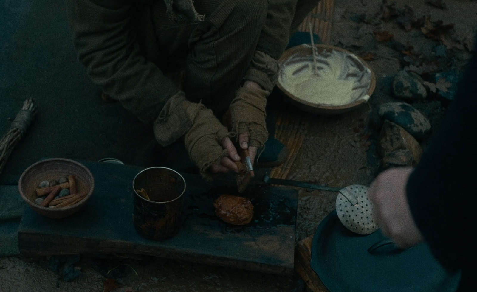 "Oily cakes with cinnamon and honey in Kelly Reichardt's film ""First Cow"""