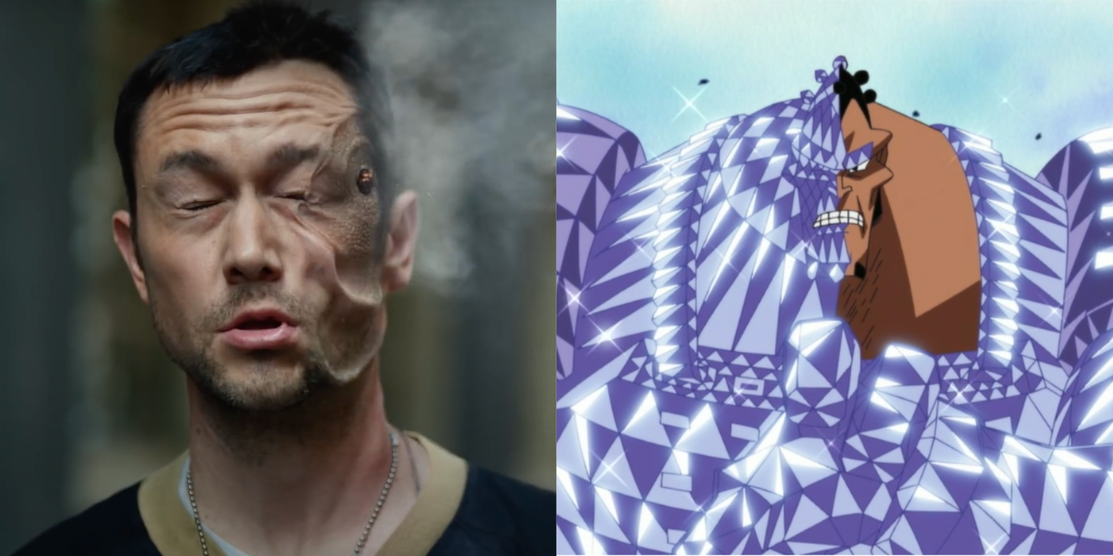 Joseph Gordon-Levitt in Project Power resembles Jozu in One Piece